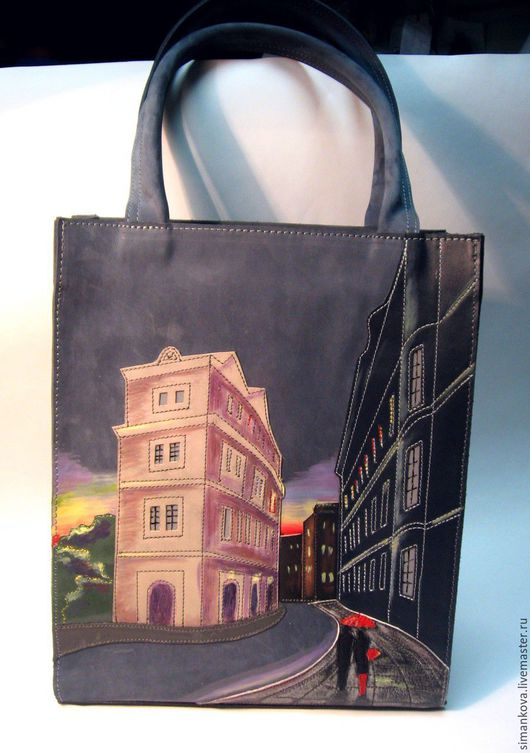 Женские сумки ручной работы. Ярмарка Мастеров - ручная работа. Купить Дождь из нубука. Handmade. Серый, сумка на каждый день