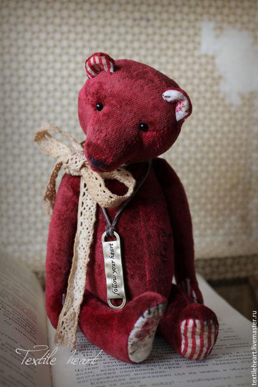 Мишки Тедди ручной работы. Ярмарка Мастеров - ручная работа. Купить Follow your heart.... Handmade. Бордовый, марсала