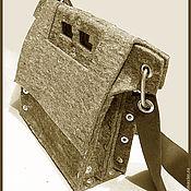 Сумки и аксессуары ручной работы. Ярмарка Мастеров - ручная работа Живая войлочная сумка для документов. Handmade.