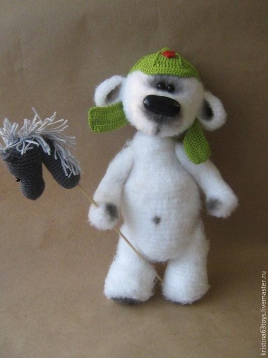 Игрушки животные, ручной работы. Ярмарка Мастеров - ручная работа. Купить Мишка в буденовке.. Handmade. Белый, мишка, мишка в подарок