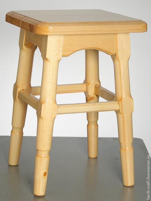 Мебель ручной работы. Ярмарка Мастеров - ручная работа. Купить Табурет из ангарской сосны. Handmade. Табурет, деревянный, классический табурет