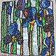 Картины цветов ручной работы. Ярмарка Мастеров - ручная работа. Купить Волшебство ирисов. Handmade. Вышивка, картина, бисер