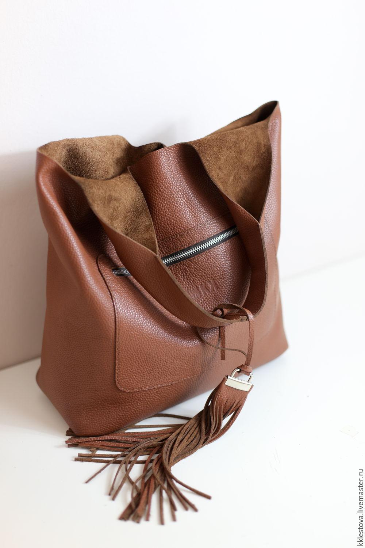 Red satchel Bag medium leather bag shopper Bag Mike, Sacks, Moscow,  Фото №1