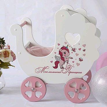 Dolls & toys handmade. Livemaster - original item Wooden carriage for dolls. Handmade.