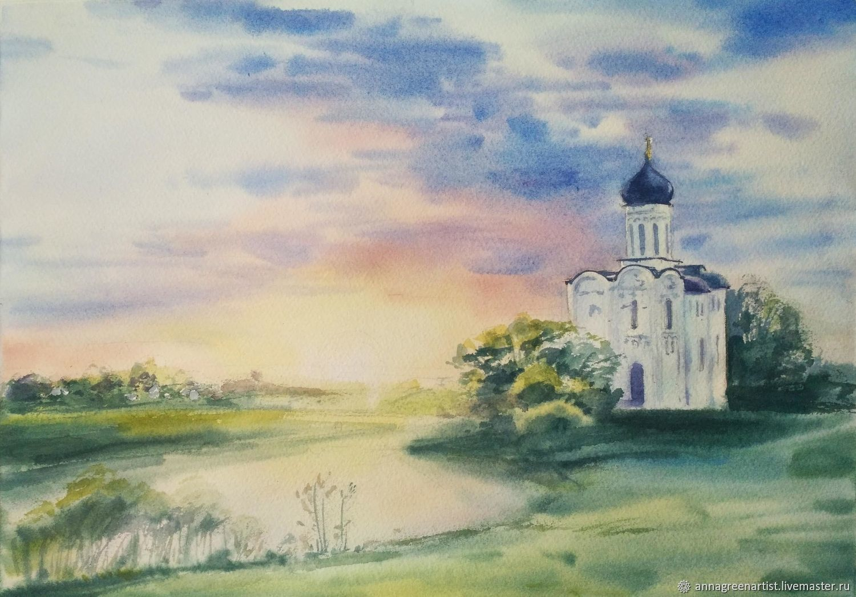 Открытка с церковью покрова на нерли