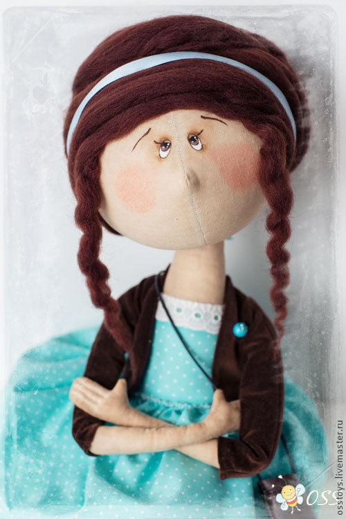 Коллекционные куклы ручной работы. Ярмарка Мастеров - ручная работа. Купить Мадлен. Handmade. Бирюзовый, коллекционная кукла, фатин