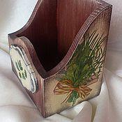 """Для дома и интерьера ручной работы. Ярмарка Мастеров - ручная работа Короб для специй """"Травы"""". Handmade."""