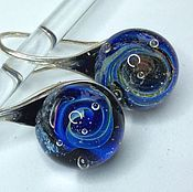 Украшения handmade. Livemaster - original item Earrings in the space provided . Space glass universe. Handmade.