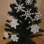 Подарки к праздникам ручной работы. Ярмарка Мастеров - ручная работа Снежинки новогодние разные. Handmade.