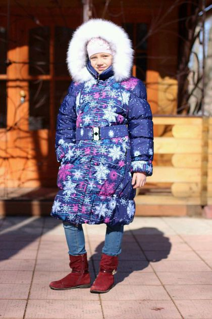 Одежда для девочек, ручной работы. Ярмарка Мастеров - ручная работа. Купить Зимнее пальто для девочек с капюшоном. Handmade.