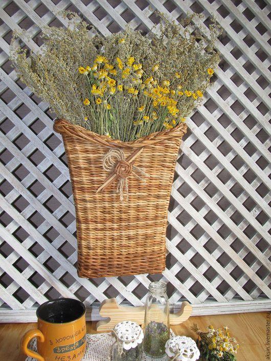 Фотокартины ручной работы. Ярмарка Мастеров - ручная работа. Купить Букет луговых цветов в плетеной корзине. Handmade. Белый