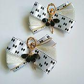 Резинка для волос ручной работы. Ярмарка Мастеров - ручная работа Резиночки-бантики с ювелирными балеринками, резиночки, для девочки. Handmade.