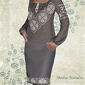 Одежда ручной работы. Ярмарка Мастеров - ручная работа юбка с ручной вышивкой Дымка. Handmade.