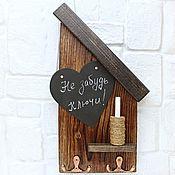 Для дома и интерьера handmade. Livemaster - original item Wooden housekeeper with chalkboard and chalk for writing. Handmade.