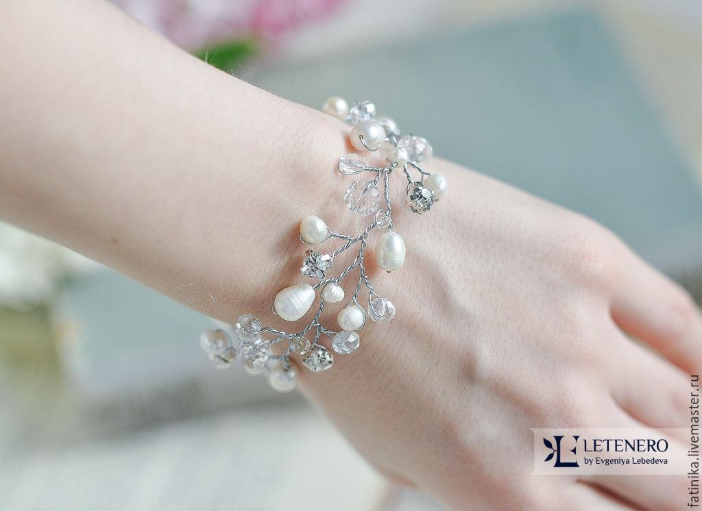 Свадебные браслеты с жемчугом