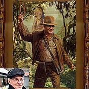 Фотокартины ручной работы. Ярмарка Мастеров - ручная работа Коллаж-портрет в образе Индианы Джонса. Handmade.