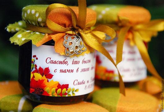"""Свадебные аксессуары ручной работы. Ярмарка Мастеров - ручная работа. Купить """"Осень - Краса"""" Подарочные баночки бонбоньерки в подарок. Handmade."""