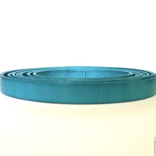 Для украшений ручной работы. Ярмарка Мастеров - ручная работа. Купить Кожаный шнур 10х2мм бирюзовый матовый. Handmade.