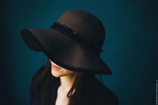 Шляпы ручной работы. Ярмарка Мастеров - ручная работа. Купить Фетровая флоппи шляпа Алиса. Handmade. Бежевый, бохо стиль