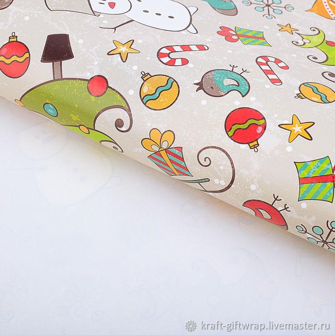 """Упаковочная бумага """"Новогоднее настроение"""", Упаковка, Санкт-Петербург, Фото №1"""