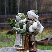 Куклы и пупсы ручной работы. Ярмарка Мастеров - ручная работа Неразлучники Ждем гостей. Handmade.