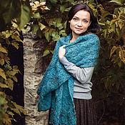 """Аксессуары ручной работы. Ярмарка Мастеров - ручная работа Палантин вязаный """"Дива"""", шарф вязаный женский, шаль вязаная ажурная. Handmade."""