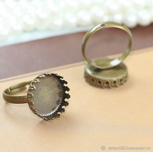 Ring base, 12,15 mm. Art.OK32, Blanks for jewelry, Irkutsk,  Фото №1
