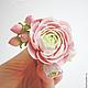 Свадебные украшения ручной работы. Пионы и розы для прически из полимерной глины. Юлия Шепелева Lovely Flowers Lab. Ярмарка Мастеров.