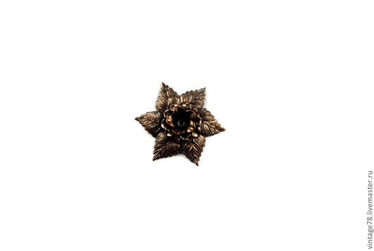 Для украшений ручной работы. Ярмарка Мастеров - ручная работа. Купить Винтажная фурнитура, латунный штамп цветок H53. Handmade.