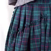 Одежда ручной работы. Ярмарка Мастеров - ручная работа Юбка в пол, в стиле бохо,юбка в крупную сине-зеленую клетку. Handmade.