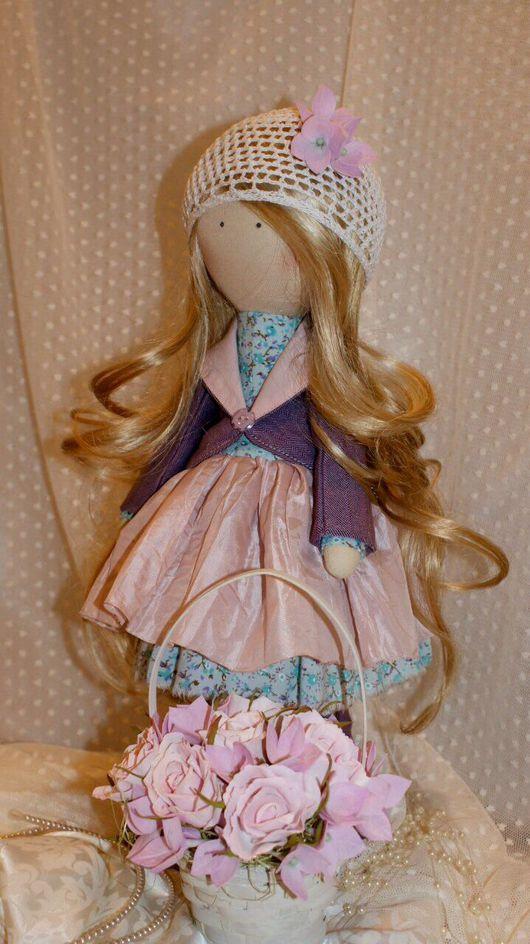 Куклы Тильды ручной работы. Ярмарка Мастеров - ручная работа. Купить Интерьерная кукла. Handmade. Бледно-розовый, кукла в подарок