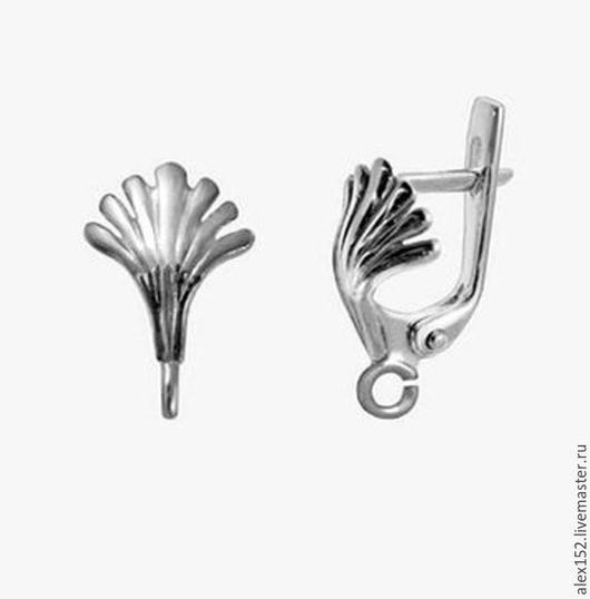 Для украшений ручной работы. Ярмарка Мастеров - ручная работа. Купить Серебро 925 ( окс)  швензы Ракушка. Handmade.