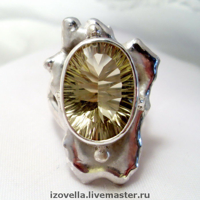 Ring 'Queen of the Sun' - citrine, silver 925, Rings, Prague,  Фото №1
