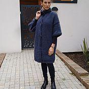 """Одежда ручной работы. Ярмарка Мастеров - ручная работа Пальто вязанное """"Индиго"""". Handmade."""