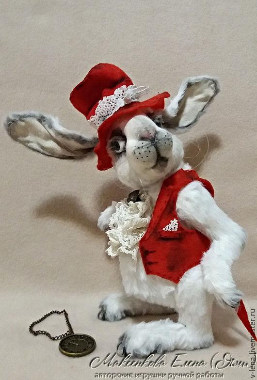 """Мишки Тедди ручной работы. Ярмарка Мастеров - ручная работа. Купить Кролик """"Время пить чай!"""". Handmade. Белый, фетр"""