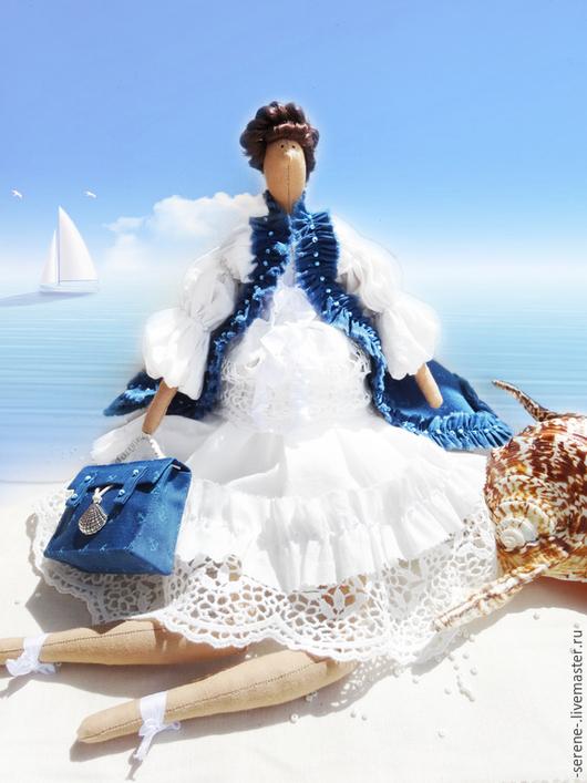 Куклы Тильды ручной работы. Ярмарка Мастеров - ручная работа. Купить Путешественница Марин в стиле Тильда. Handmade. Синий