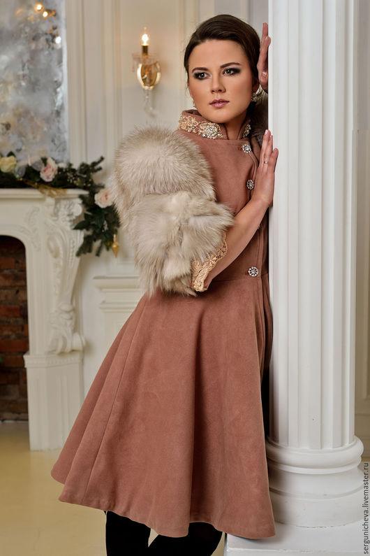 """Верхняя одежда ручной работы. Ярмарка Мастеров - ручная работа. Купить Пальто""""Аmethyst Princess"""". Handmade. Теплое пальто, пальто из шерсти"""