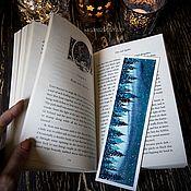 Закладки ручной работы. Ярмарка Мастеров - ручная работа Закладка для книги `Ночной Лес`. Handmade.