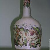 Посуда ручной работы. Ярмарка Мастеров - ручная работа декоративная бутылка. Handmade.