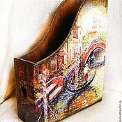 """Канцелярские товары ручной работы. Ярмарка Мастеров - ручная работа Журнальница """"Венеция"""". Handmade."""