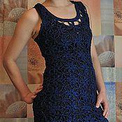 Одежда ручной работы. Ярмарка Мастеров - ручная работа Туника тёмно-синяя. Handmade.