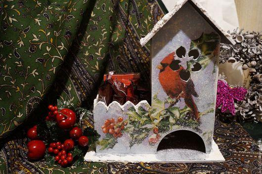 """Кухня ручной работы. Ярмарка Мастеров - ручная работа. Купить Чайный домик """" Красный кардинал"""". Handmade. Ярко-красный"""