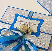 Свадебный салон ручной работы. Ярмарка Мастеров - ручная работа Приглашение ( арт. 0006). Handmade.