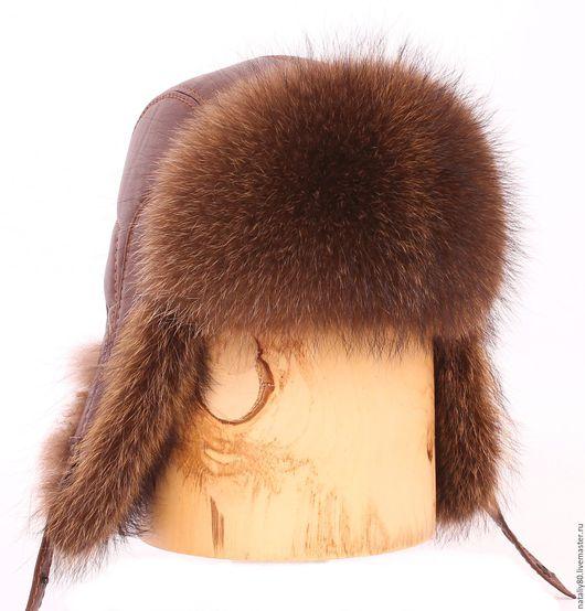 Шапки ручной работы. Ярмарка Мастеров - ручная работа. Купить Мужская шапка ушанка, мех енот. Артикул - 303. Handmade.