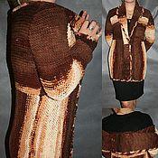 Одежда ручной работы. Ярмарка Мастеров - ручная работа Вязаный кардиган Мокко.. Handmade.