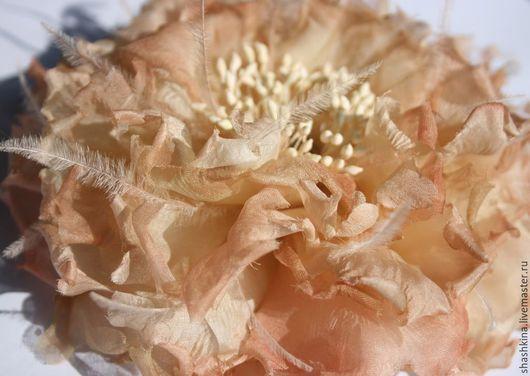 """Заколки ручной работы. Ярмарка Мастеров - ручная работа. Купить Заколка-мак """"Лорейн"""". Цветы из шелка, мак из шелка, цветы из ткани. Handmade."""