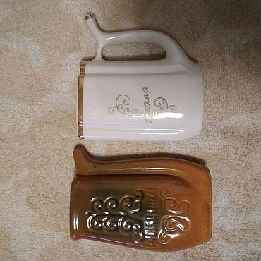 Посуда ручной работы. Ярмарка Мастеров - ручная работа Кружка для минеральной воды - бюветница.. Handmade.