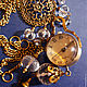"""Часы ручной работы. Ярмарка Мастеров - ручная работа. Купить Часы  -кулон """"Бездна времени"""". Handmade. Часы, горный хрусталь"""