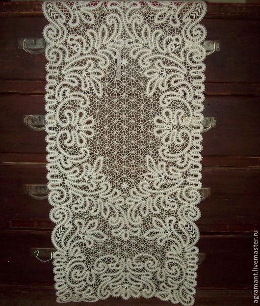 Текстиль, ковры ручной работы. Ярмарка Мастеров - ручная работа. Купить Скатерть 120/47 Вологодское кружево. Handmade. Вязаная скатерть