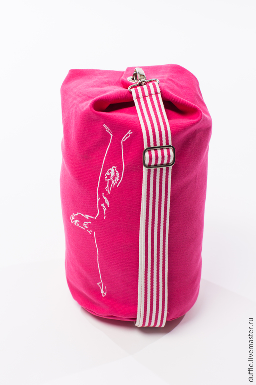 Спортивные сумки ручной работы. Ярмарка Мастеров - ручная работа. Купить Duffle bag- S size. Handmade. Фуксия